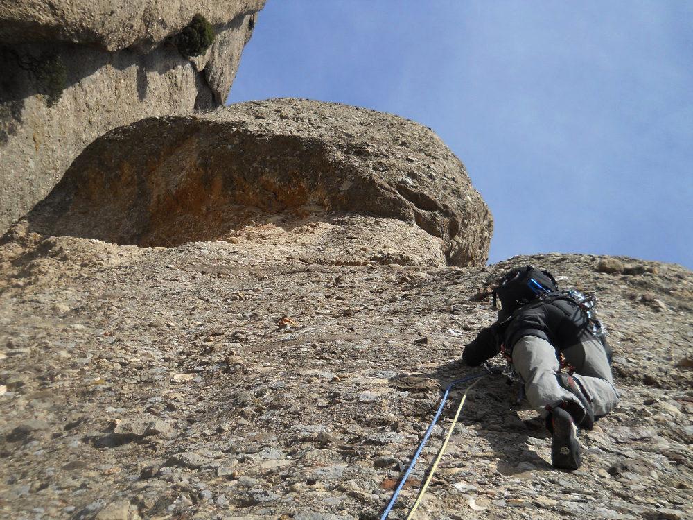 Via Normal a la Momieta, Montserrat, Espagne 2
