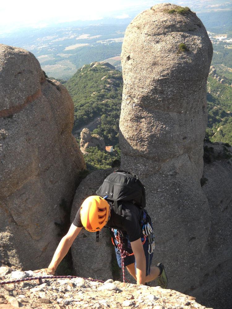 Aitor a l'Arbret, Agulles, Montserrat, Espagne 2